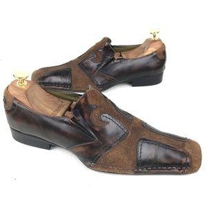 Robert Wayne Fleur Men's Brown Leather Loafers 9